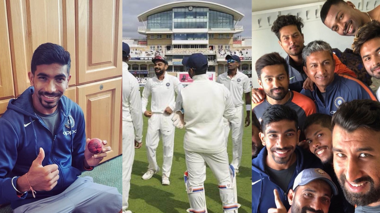 ENG v IND 2018: Indian cricket team reacts after a thumping win over England in Trent Bridge by 203 runs