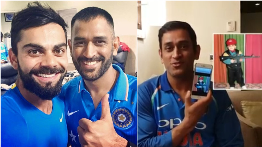WATCH: MS Dhoni finds a picture of B'day boy Virat Kohli which proves he is a PUBG fan