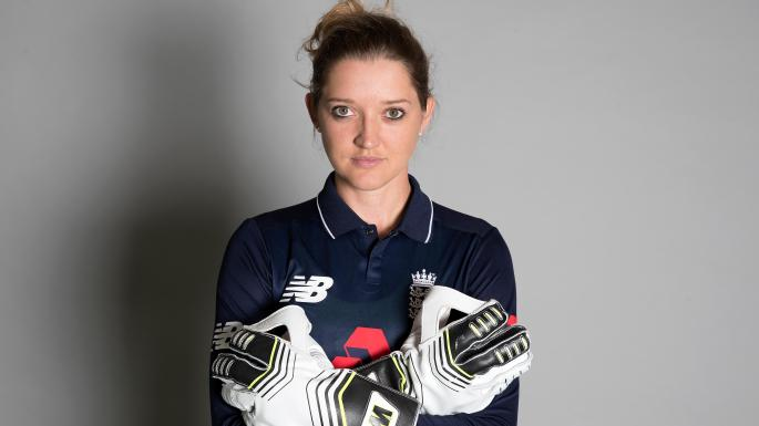 Sarah Taylor reacts after being hailed by Gilchrist as the