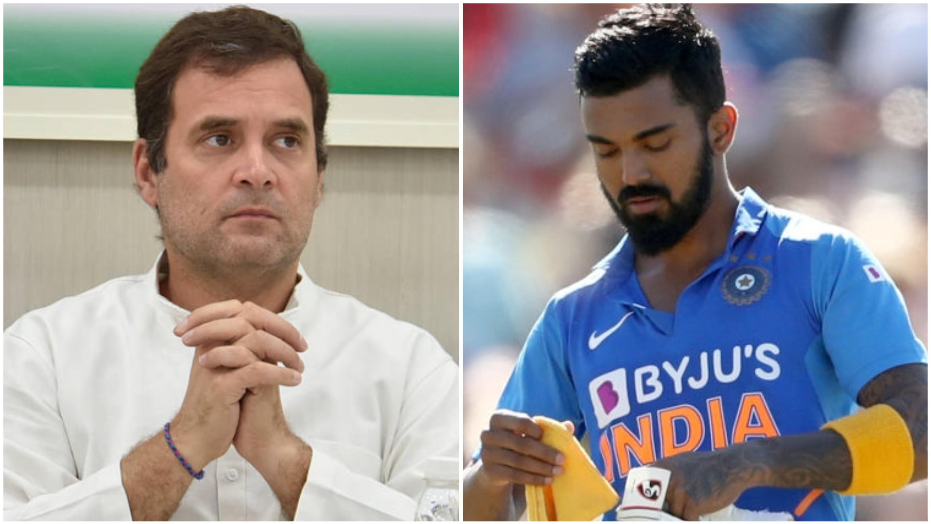 के एल राहुल द्वारा न्यूजीलैंड के खिलाफ शतक के बाद फैंस ने राहुल गाँधी को किया ट्रोल