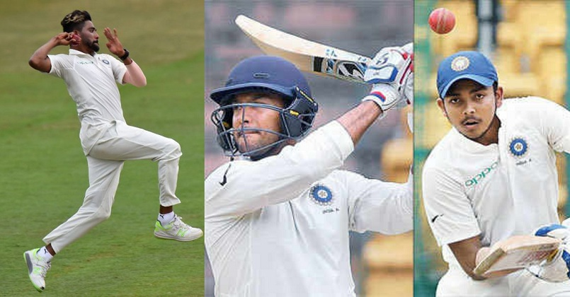 The 3 new faces in the Indian team – Prithvi Shaw, Mayank Agarwal and Mohd Siraj