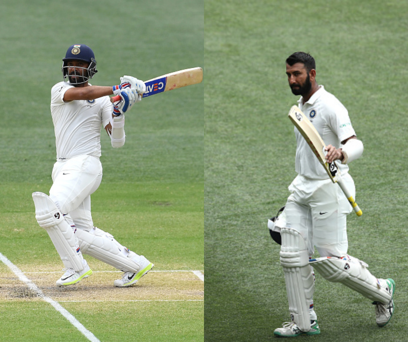 Pujara (71) and Rahane (70) helped India put up a target of 323 runs for Australia to chase | Getty