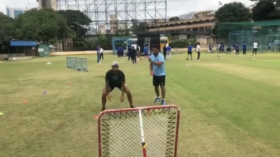 WI v IND 2019: WATCH - Shikhar Dhawan works on his reflexes ahead of West Indies tour