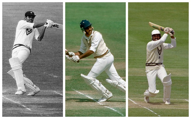 Dilip Vengsarkar's three centuries at Lord's in 1979, 1982 and 1986 | Getty