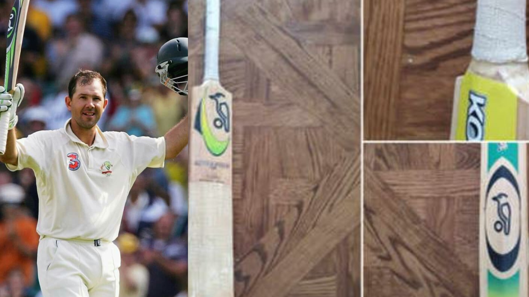 Ricky Ponting shares images of his favorite bat with which he scored five international centuries
