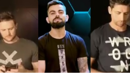 WATCH: Virat Kohli hosted a hilarious 60 seconds quiz with his RCB mates