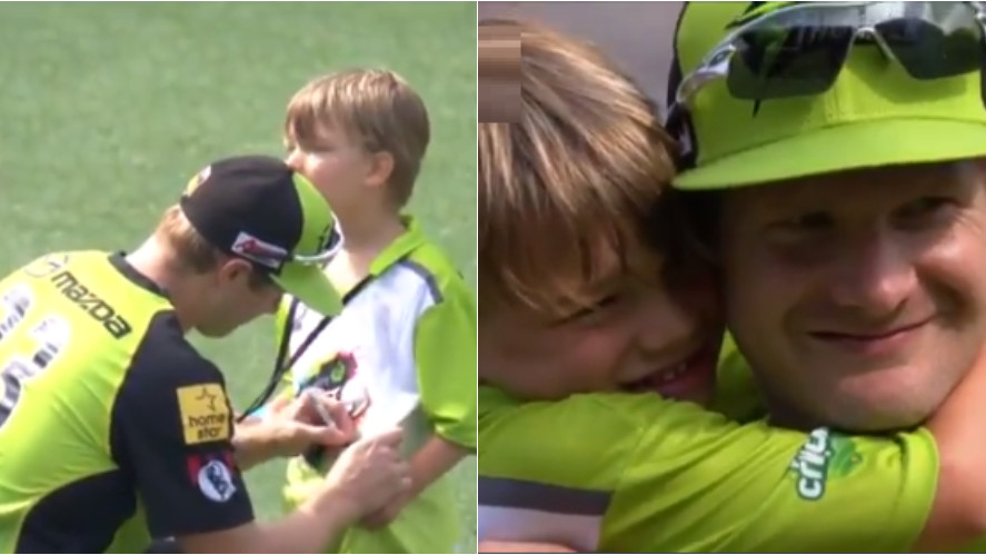 WATCH: Twitter finds Shane Watson signing his son's jersey adorable