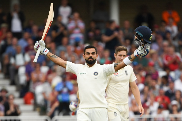 Virat Kohli celebrates his 23rd Test ton | Getty