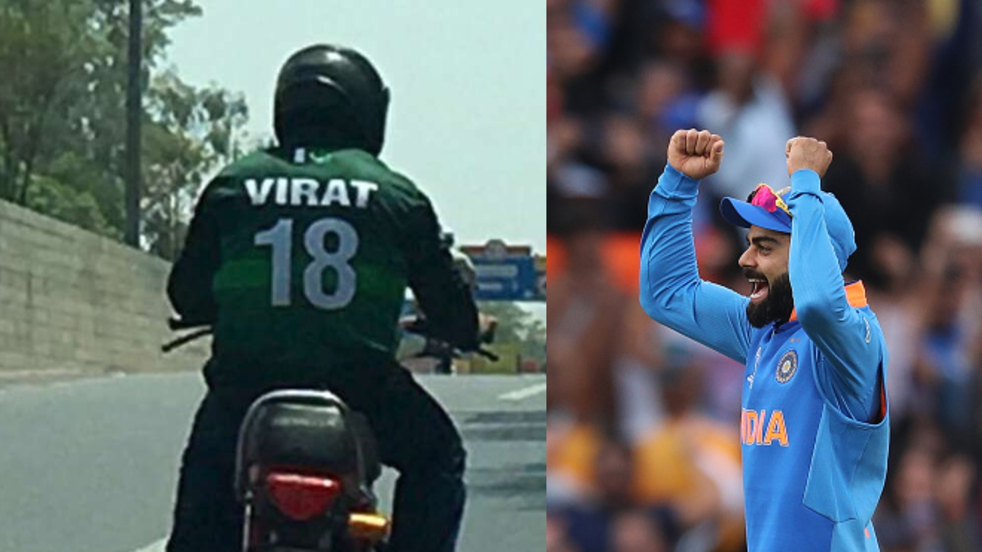 CWC 2019: A fan spotted wearing Pakistan World Cup kit with Virat Kohli's name in Lahore