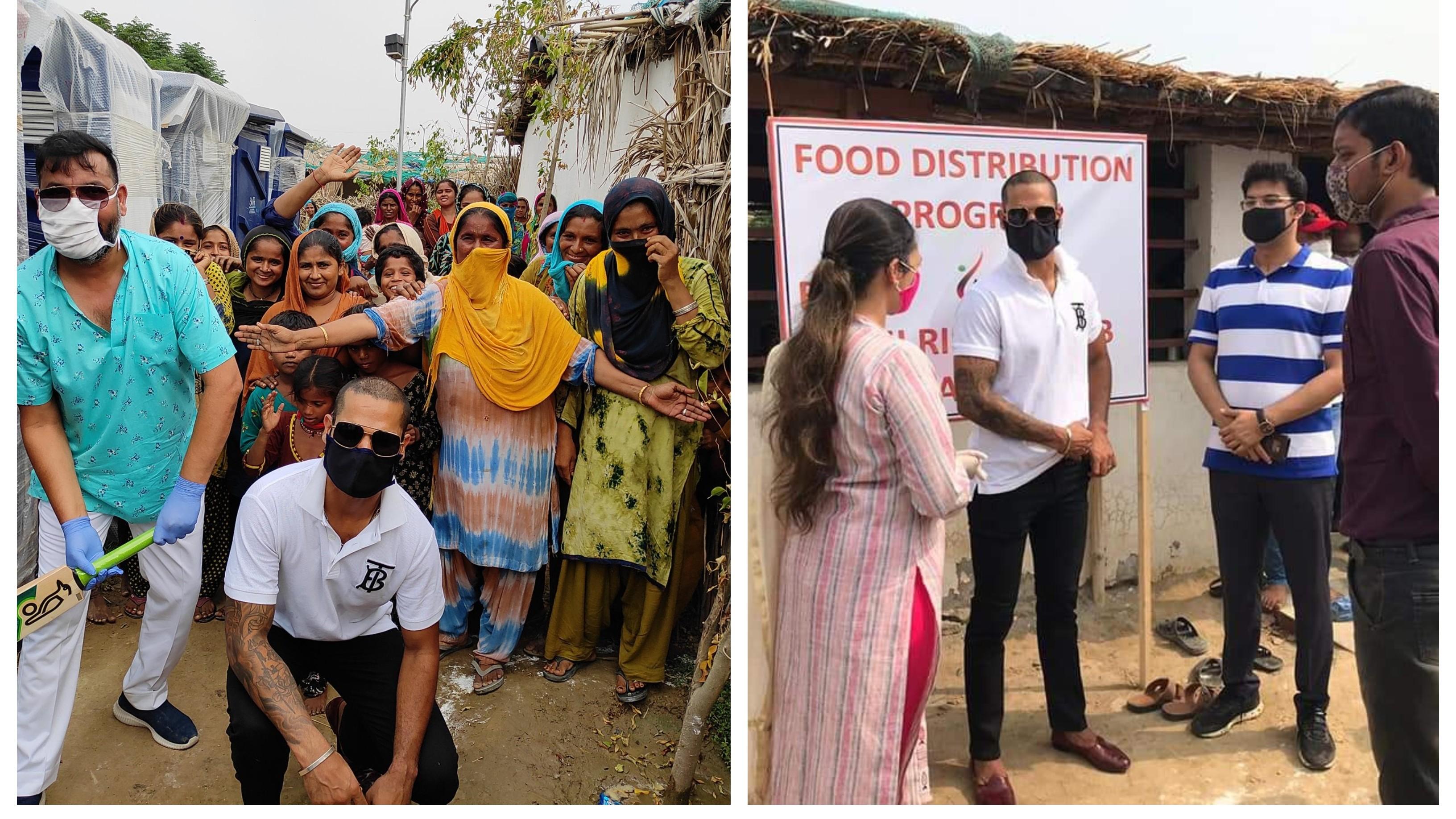 WATCH: Shikhar Dhawan visits Pakistani Hindu refugee camp in Delhi, gifts them modular toilets & cricket kits