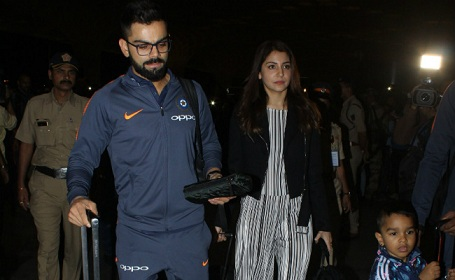 Virat Kohli and Anushka Sharma spotted with Akshay Kumar in Cape Town