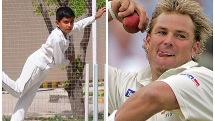 Shane Warne mesmerized by 7-year-old leg-spin sensation Eli Mikal Khan