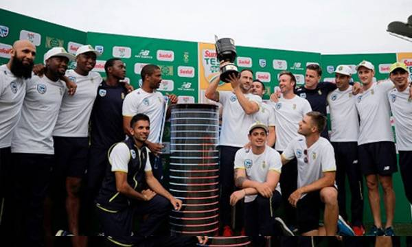 South African team with the Freedom Trophy | Getty