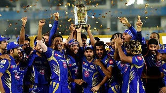 MI have won the IPL in 2013, 2015 and 2017