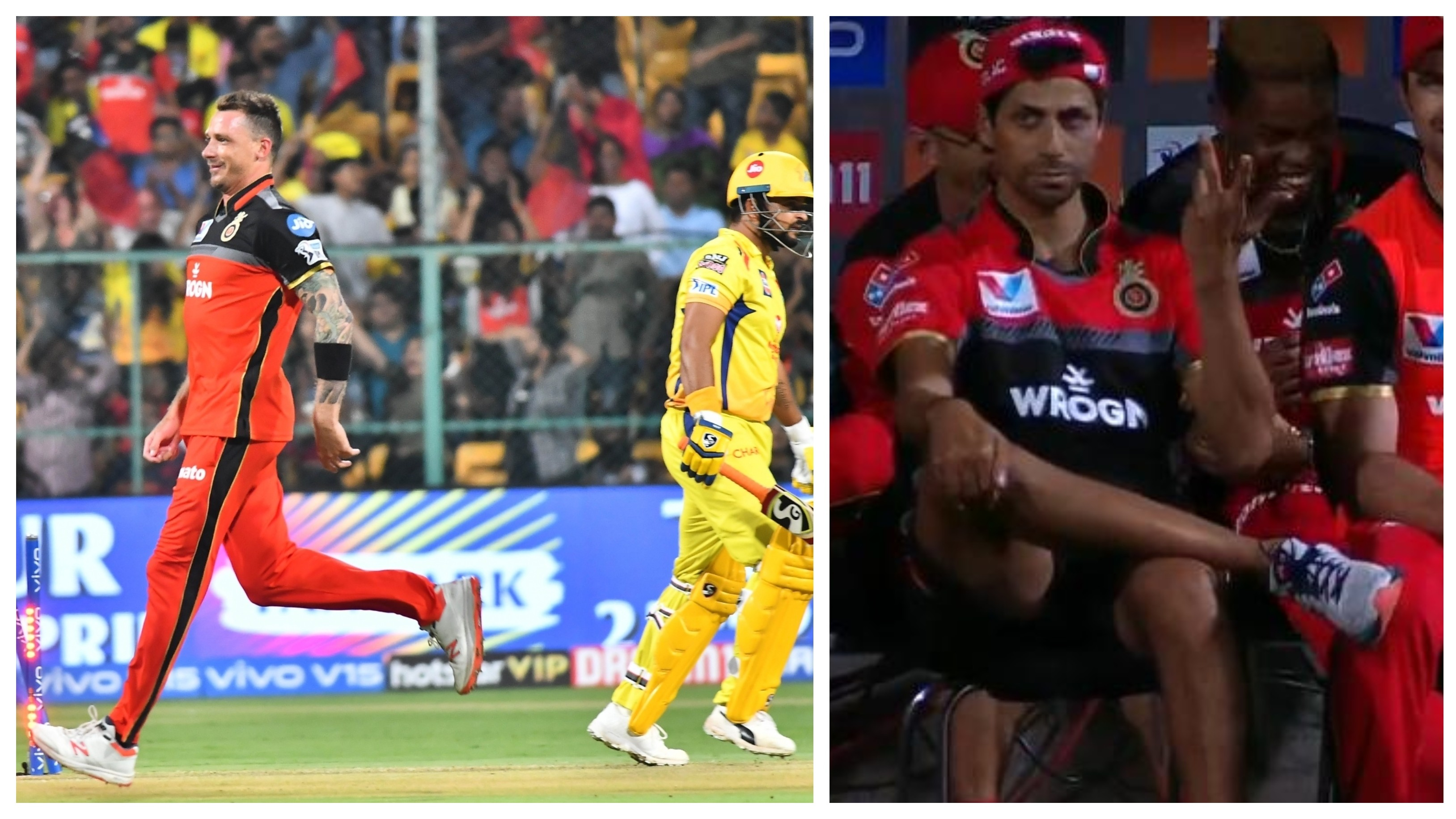 IPL 2019: WATCH – Nehra reacts in awe as Steyn rattles Raina's stumps with an inch-perfect yorker
