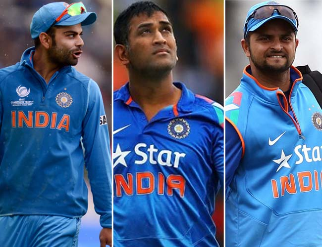 Suresh Raina, Virat Kohli and MS Dhoni will form the core middle order of Indian T20I team