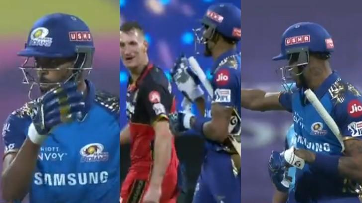 IPL 2020: WATCH - Hardik, Morris clash; get reprimanded for breaching IPL code of conduct