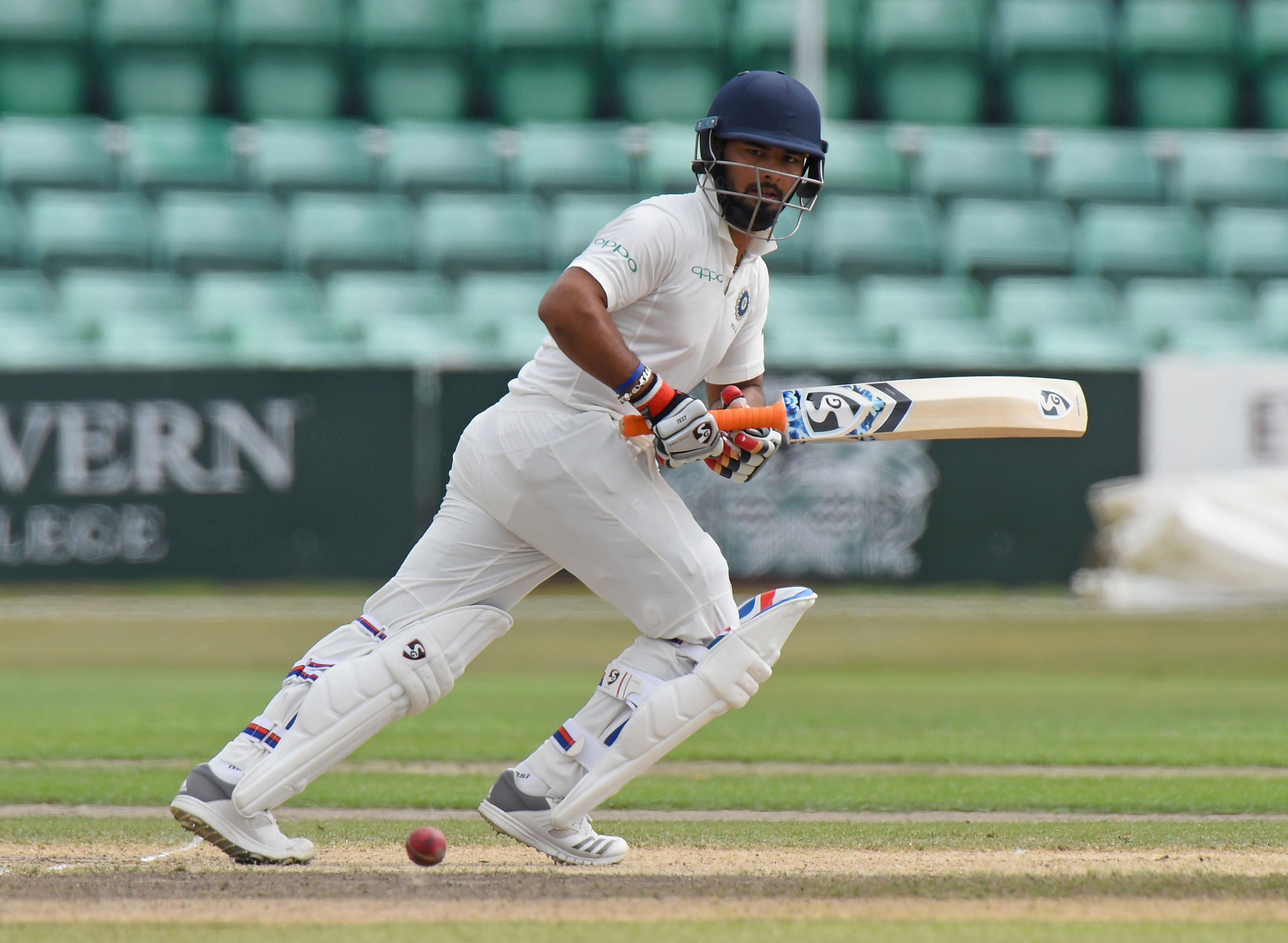 Rishabh Pant bats for India A against England Lions earlier this week | Getty