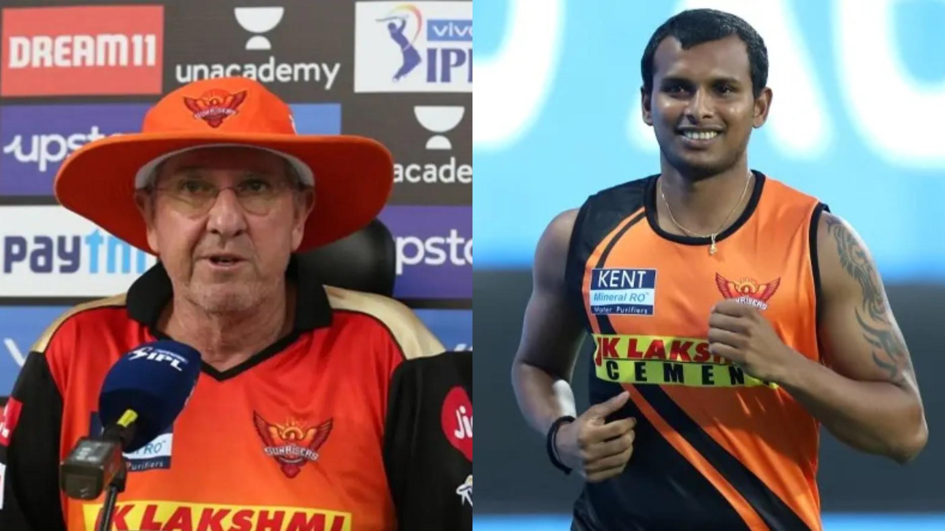 IPL 2021: Natarajan's COVID positive result didn't affect SRH's performance- coach Trevor Bayliss