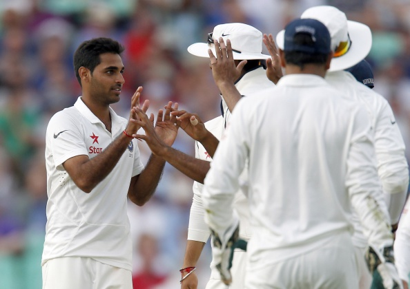 Bhuvneshwar Kumar was excluded from India's Test squad vs England for first three Tests | IAN KINGTON/AFP/Getty Images