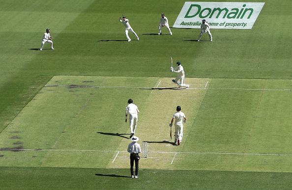 Virat Kohli taking a blinder in slip cordon. | GETTY