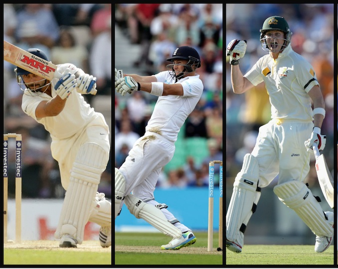 Virat Kohli, Joe Root, and Steve Smith to form the middle order of this world right-hander XI