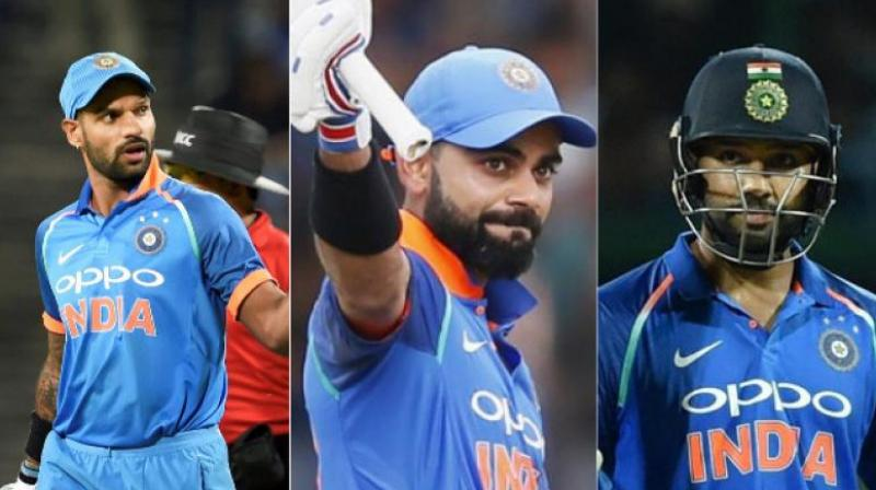 Dhawan, Rohit and Kohli form a scary top three for any limited overs team