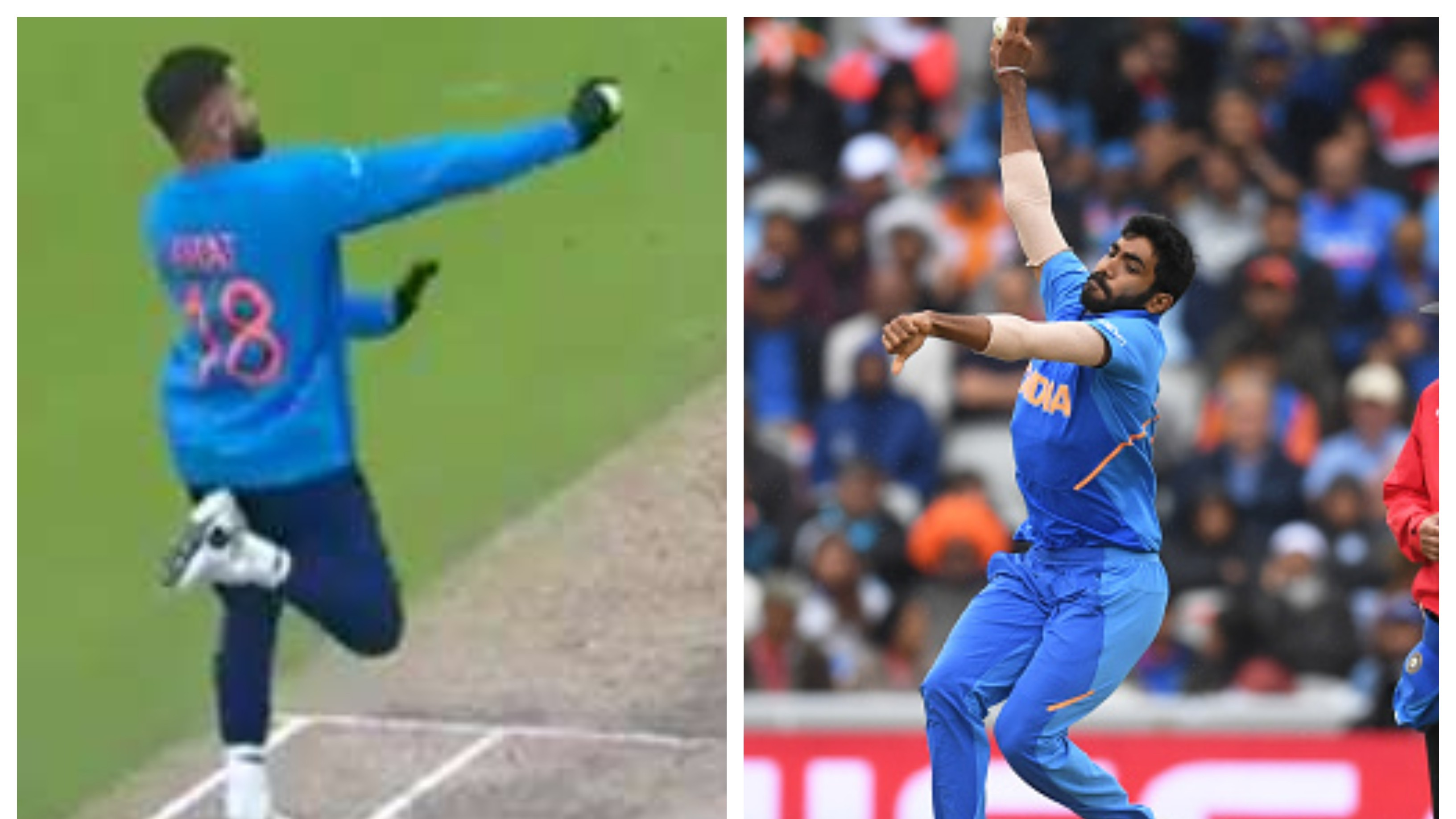 CWC 2019: WATCH – Virat Kohli imitates Jasprit Bumrah's unconventional bowling action