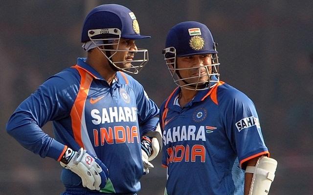 Virender Sehwag and Sachin Tendulkar | Getty