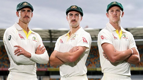 Mitchell Starc, Josh Hazlewood and Pat Cummins | Getty images