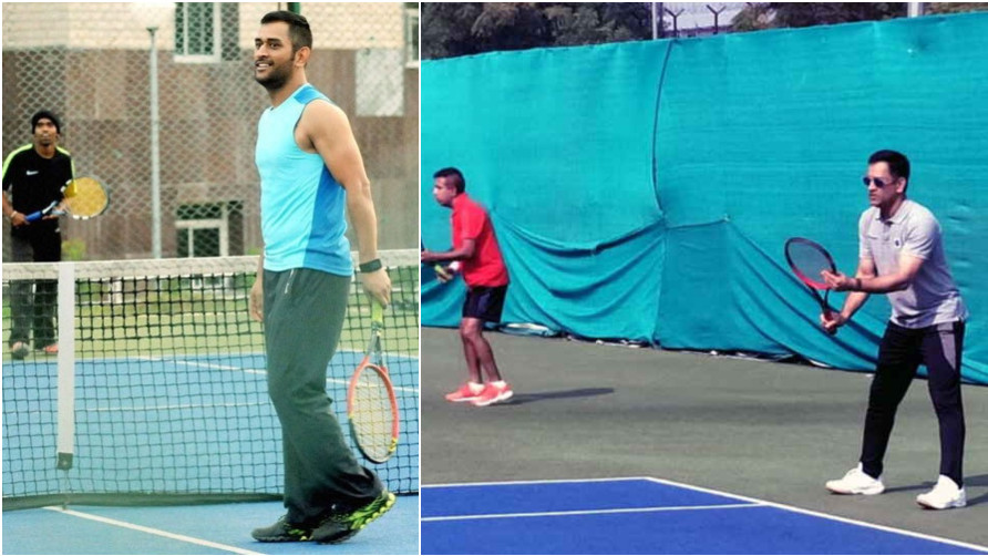 WATCH: Indian cricketer MS Dhoni takes part in a local Tennis tournament