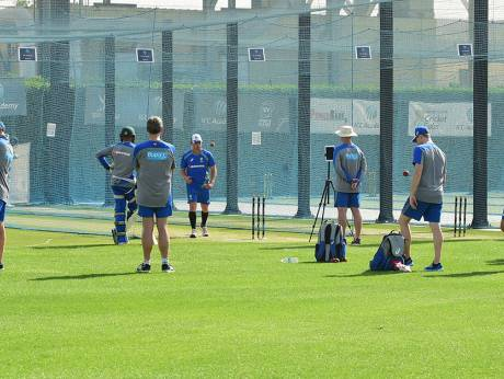 The Australian team practiced in the ICC cricket academy in Dubai before their tour to India in 2017 | ICC cricket academy