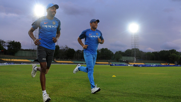 MS Dhoni gets a very unusual birthday gift from the 'all-rounder' Hardik Pandya