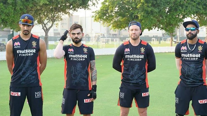 "IPL 2020: ""In trouble,"" Kohli shares funny pic with Siraj, Padikkal and De Villiers"