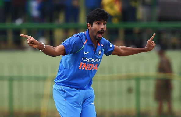 Jasprit Bumrah hurt his thumb during the first T20I against Ireland | Getty