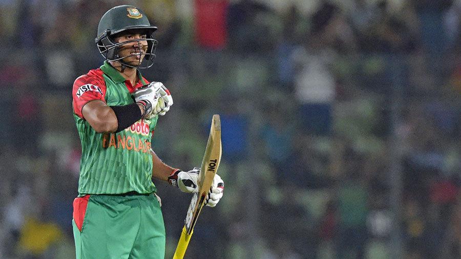 Sarkar celebrates his ODI ton against Zimbabwe | AFP