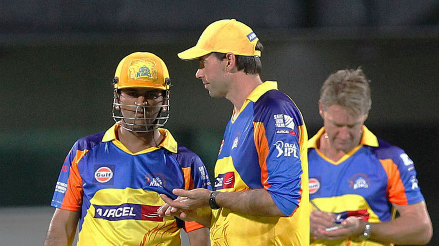 Stephen Fleming with MS Dhoni | GETTY