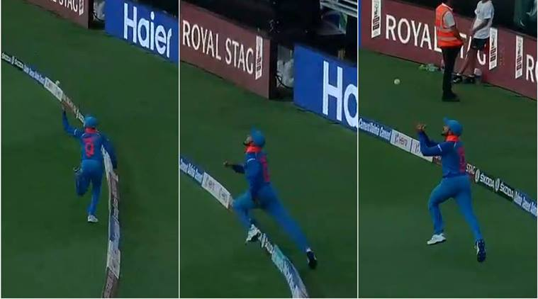 Manish Pandey took a blinder to remove Sarfraz Ahmed off Kedar Jadhav | HotStar grab