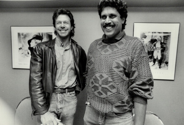 Imran Khan and Kapil Dev during their playing days | Getty