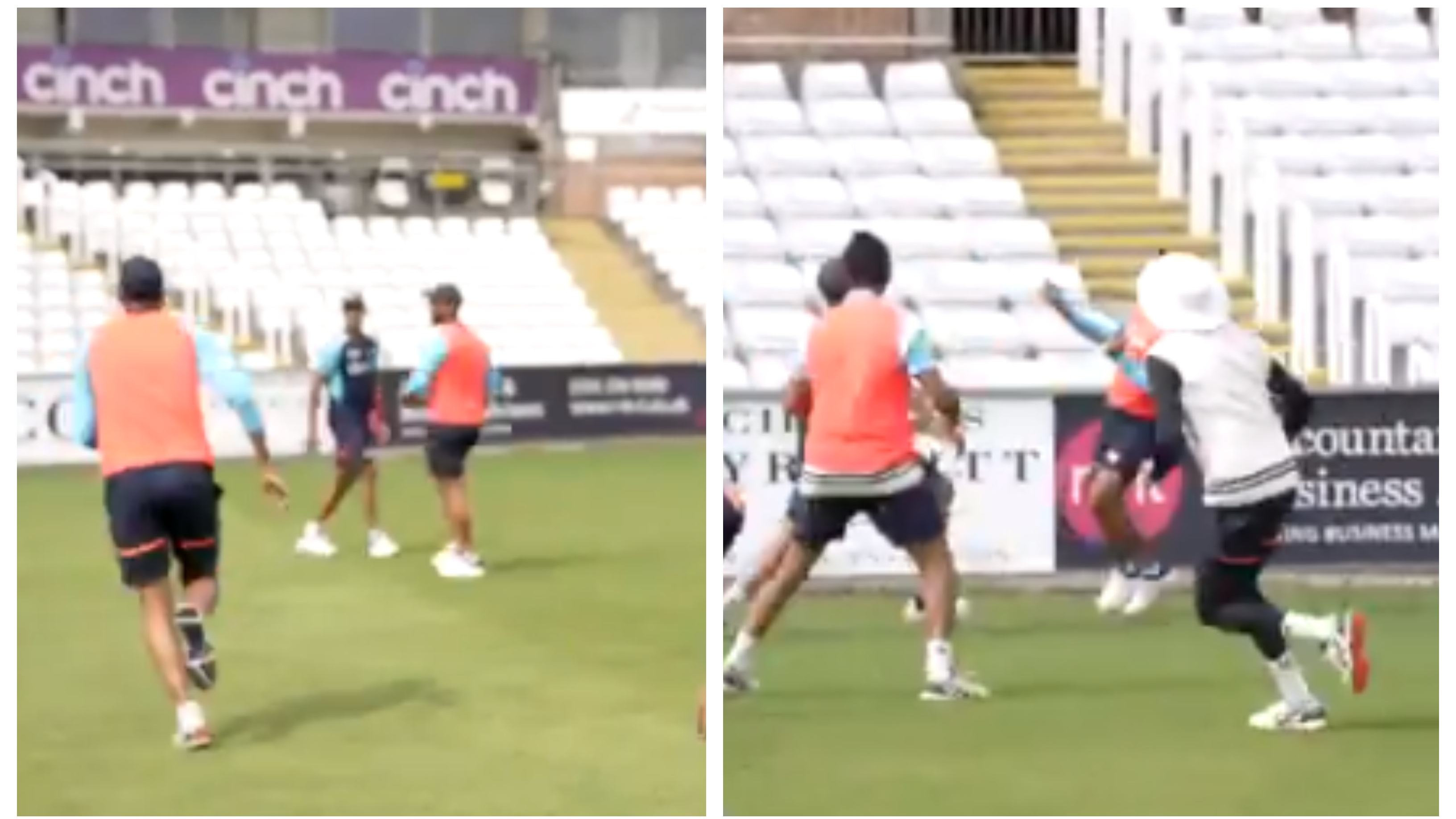 ENG v IND 2021: WATCH – Team India members hone their catching skills using an innovative method