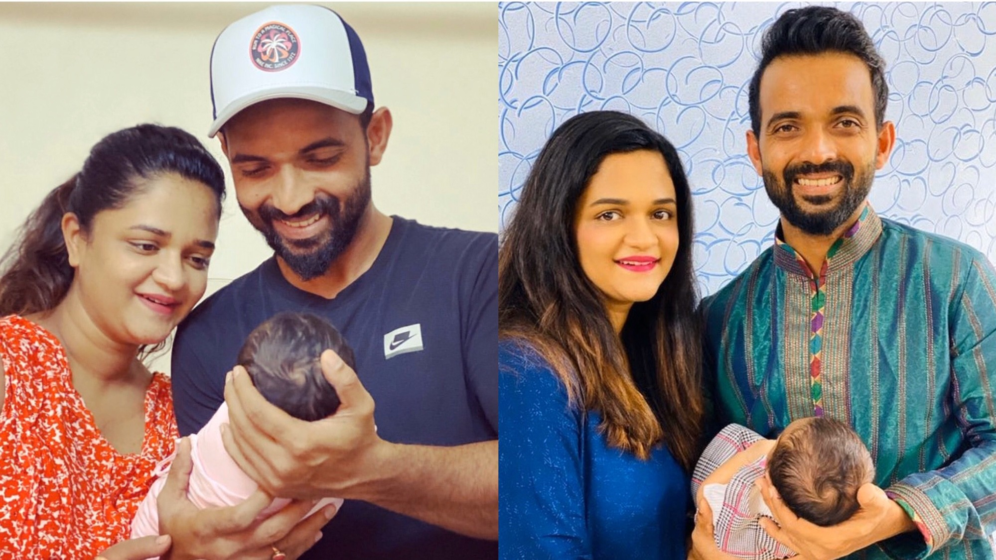 Ajinkya Rahane shares first picture of his newborn daughter Aarya