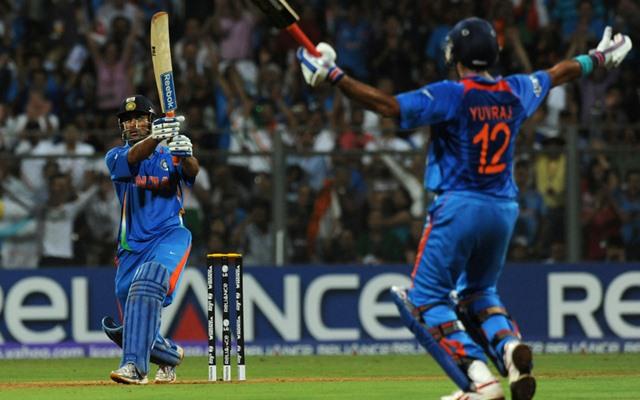 MS Dhoni hits the 2011 World Cup winning six | Twitter