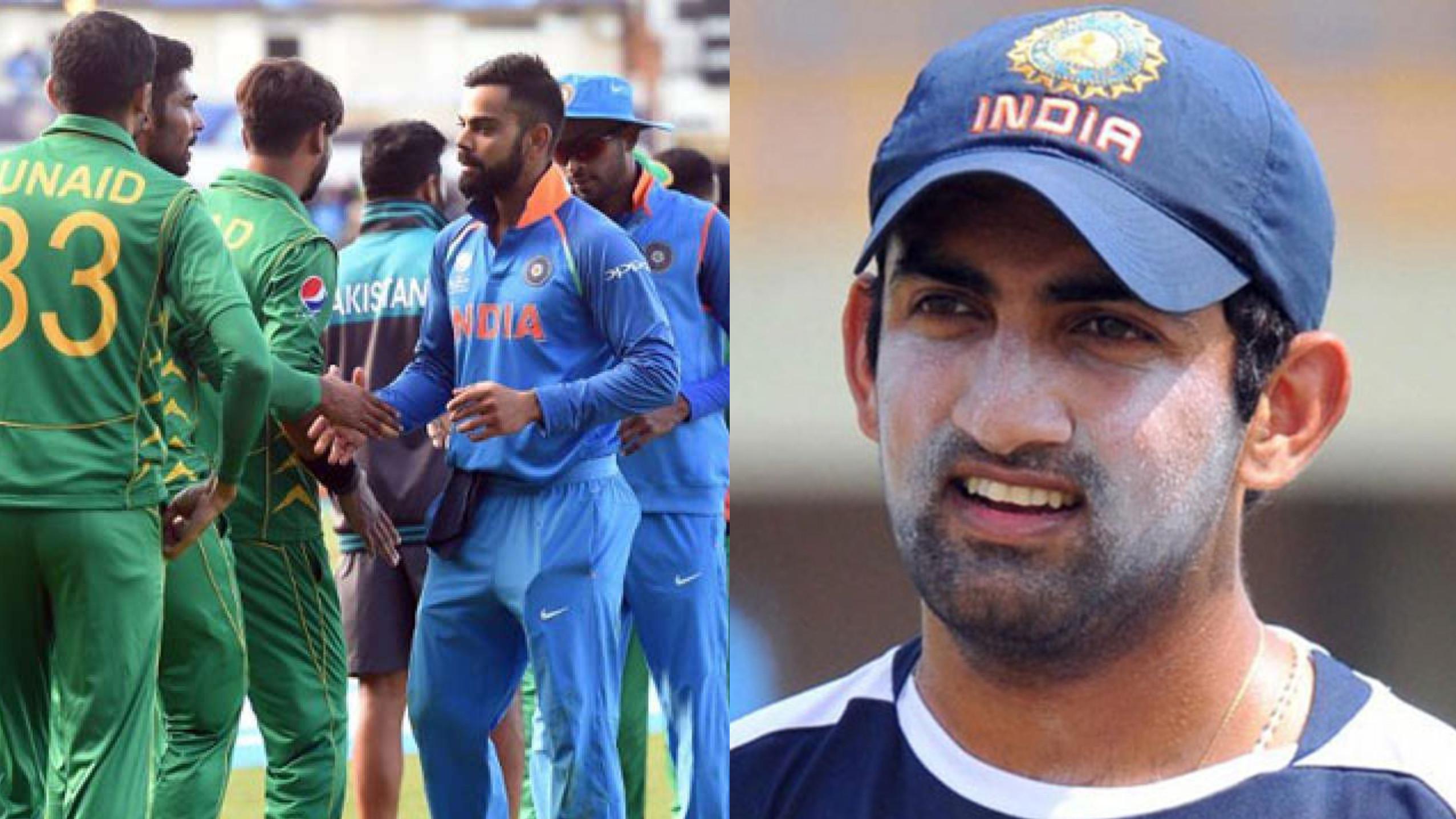 CWC 2019 : गौतम गंभीर विश्व कप में भारत-पाकिस्तान मैचों का पूरी तरह से बहिष्कार चाहते हैं