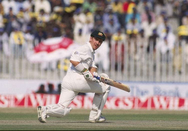Justin Langer scored century in his Test comeback against England | AFP
