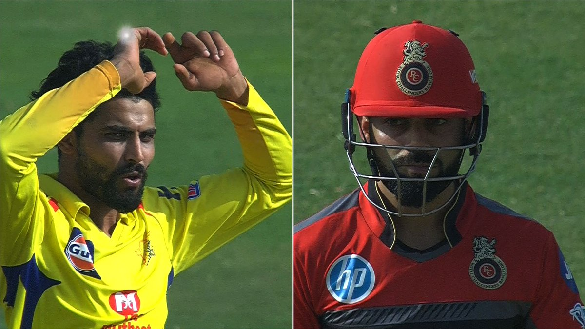 IPL 2018: Watch – Ravindra Jadeja doesn't celebrate after dismissing the RCB skipper Virat Kohli