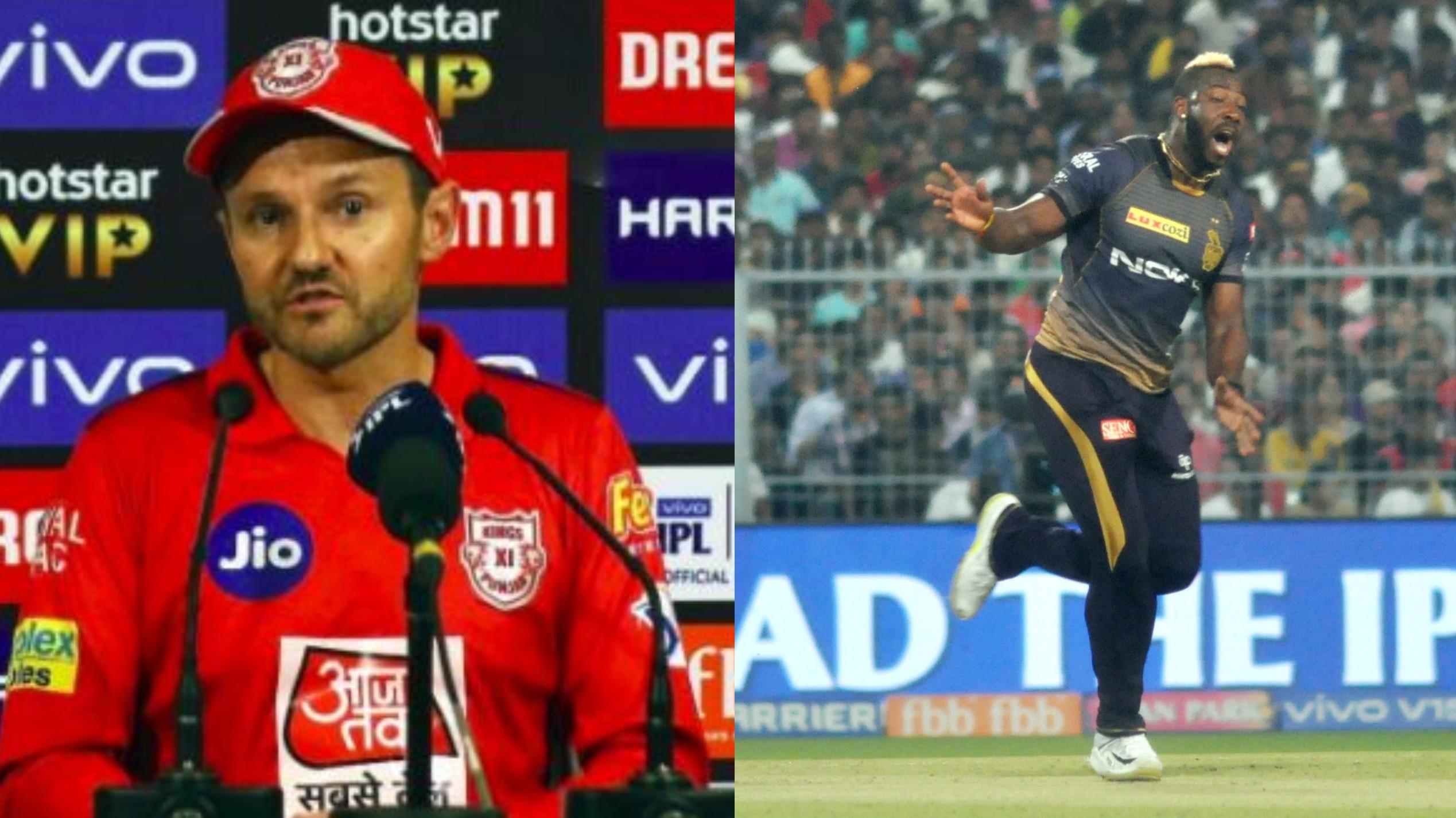 IPL 2019 : माइक हेसन ने स्वीकार किया कि आंद्रे रसेल की पारी ने बदला मैच का रुख