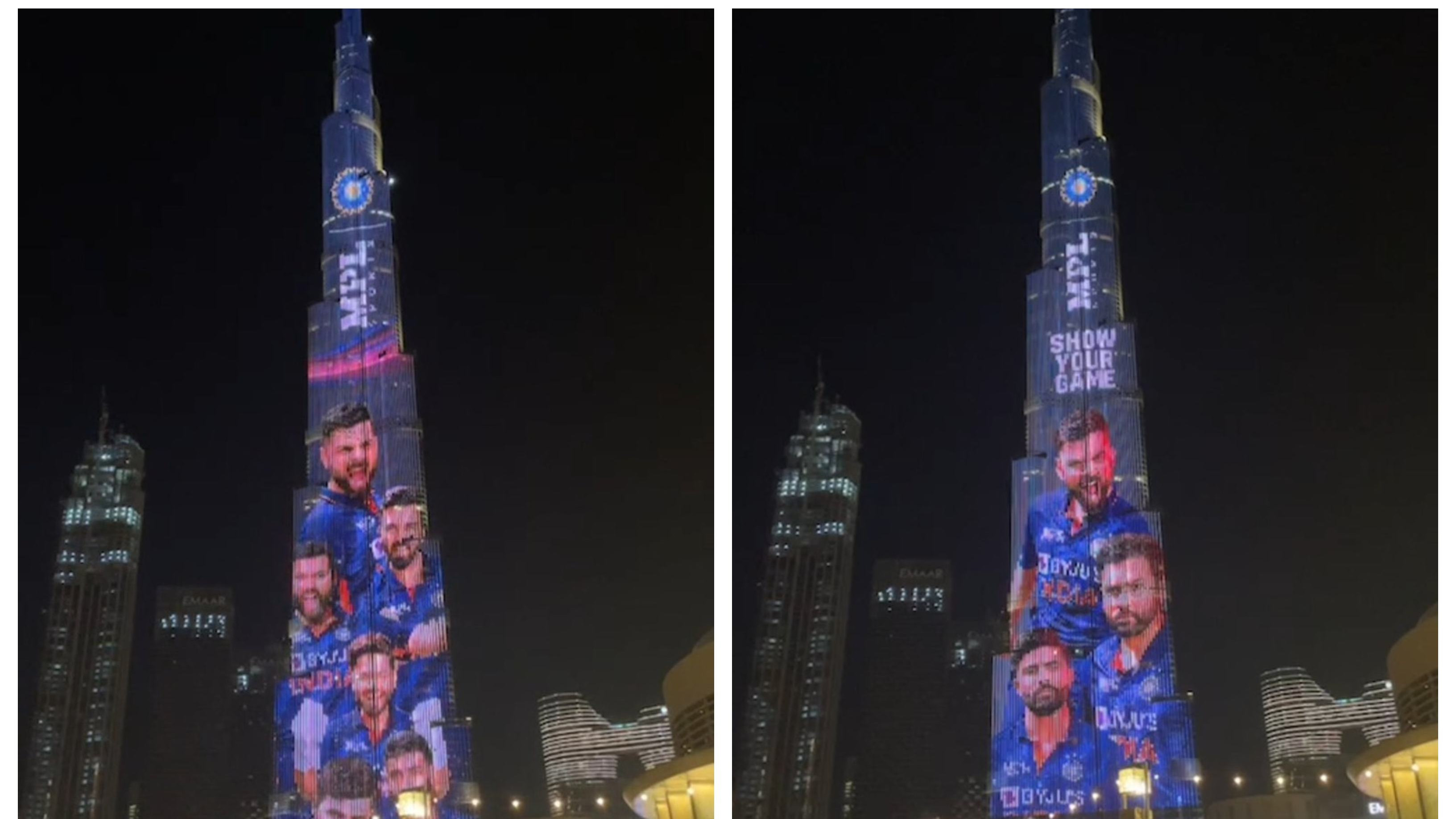 WATCH – Burj Khalifa lights up in the colours of Team India's new jersey