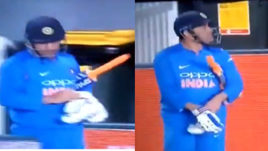 NZ v IND 2019: WATCH- MS Dhoni receives a huge cheer when he walked out to bat