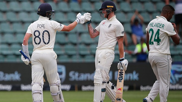 SA v ENG 2020: Ben Stokes, Ollie Pope hit centuries as England declare first innings on 499