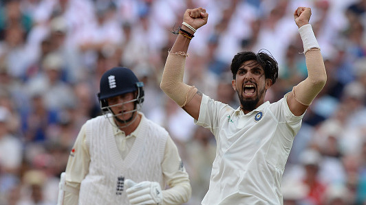 ENG v IND 2018: 1st Test, Day 3 – Ishant fifer leaves India to score 84 more runs with Kohli still unbeaten